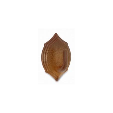 Blister 2 perchas escudo plástico madera