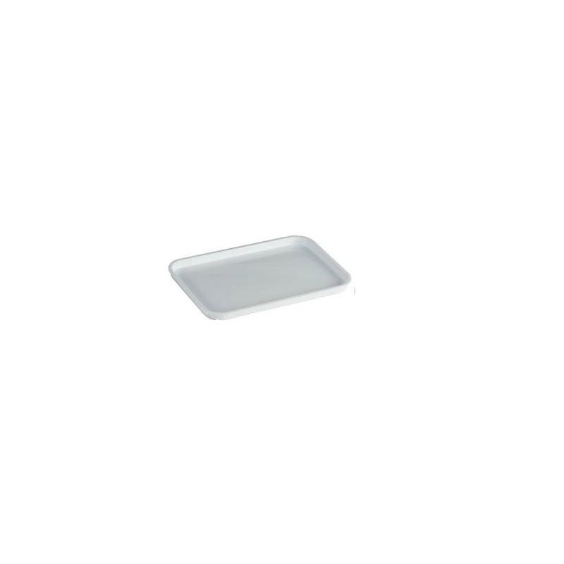 Bandeja rectangular pequeña blanca