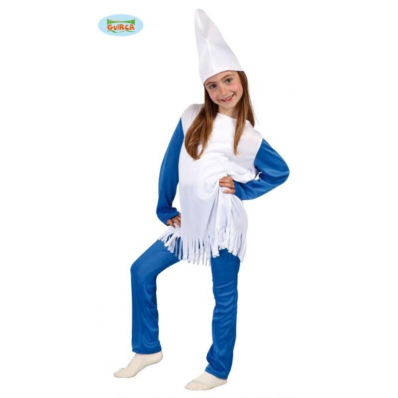 Disfraz Enanita Azul 4-6 años.
