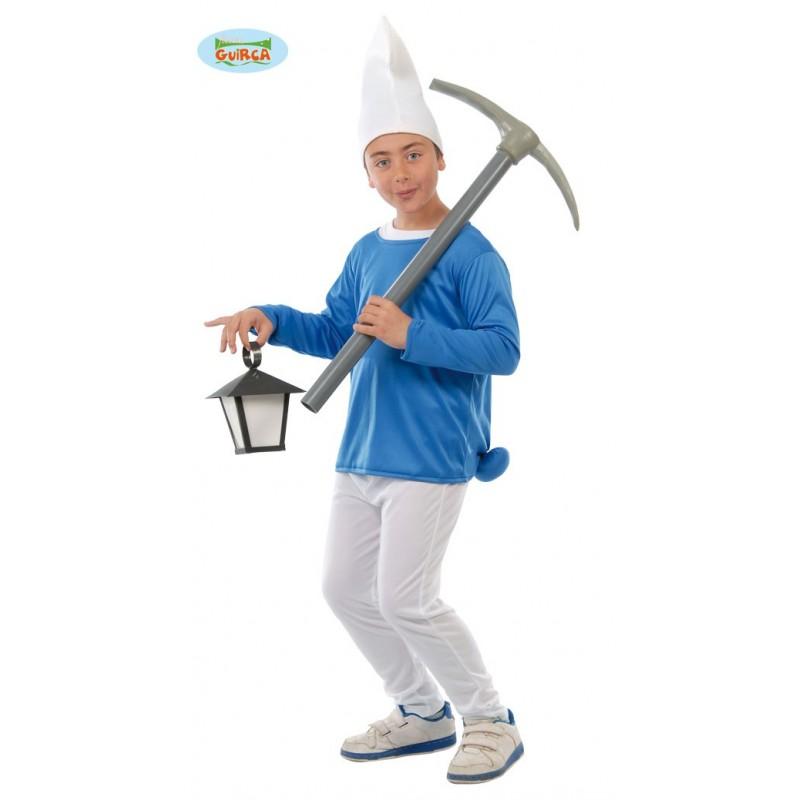 Disfraz Enanito Azul 4-6 años.