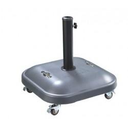 Base sombrilla gris con ruedas