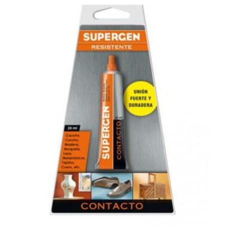 Tubo pegamento Supergen 20 contacto.