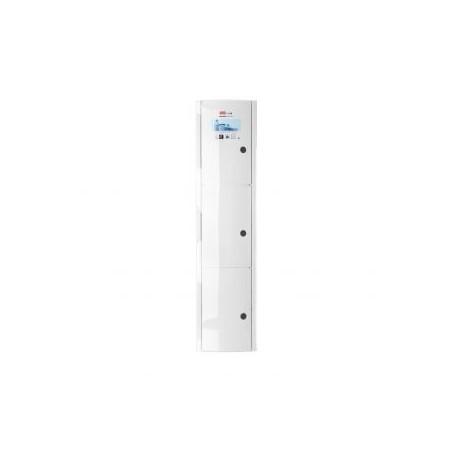 Armario baño vertical blanco.