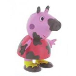 Figura de Peppa pig con barro.