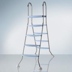 Escalera inox con plataforma