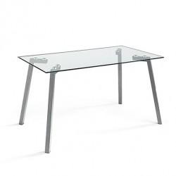 Mesa fija ALBA transparente.