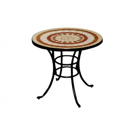 Mesa redonda cerámica Alhambra.