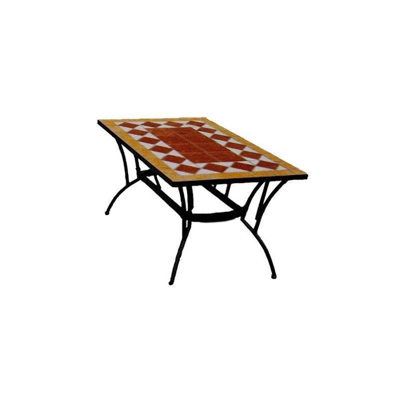 Mesa rectangular cerámica.
