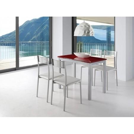Mesa de cocina SINTRA roja