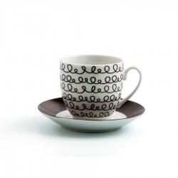 Set 6 tazas 9 cl porcelana GRAPHIC