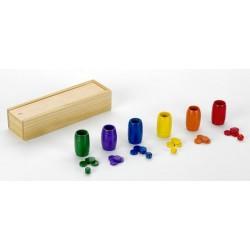 Accesorios parchis 6 jugadores madera
