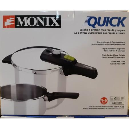 Set dúo Ollas rápidas 4+6 QUICK MONIX