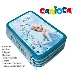 Plumier 3 Cremalleras Carioca Frozen