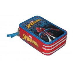 Plumier 3 Cremalleras Carioca Spiderman