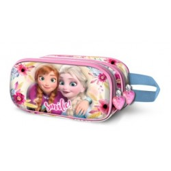 FROZEN MULTICOLOR ESTUCHE PORTATODO DOBLE 3D SMILE