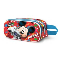 MICKEY INFANTIL MULTICOLOR ESTUCHE PORTATODO DOBLE 3D SAY CHEESE