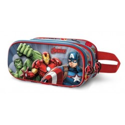 AVENGERS MULTICOLOR ESTUCHE PORTATODO DOBLE 3D FORCE