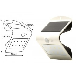 APLIQUE PARED SOLAR GUARDIAN IP65 BLANCO 1.5W 220LM 4000K