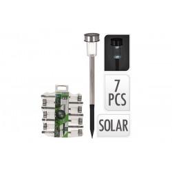 SET. 7 PINCHOS SOLAR 33CMS. INOX DX9999750