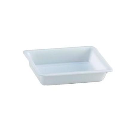Cubeta rectangular 2l. blanca.