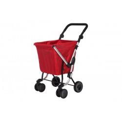 CARRO COMPRA WE GO ROJO CEREZA PLAYMARKET 24960C