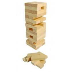 Juego torres madera viaje 48 piezas.