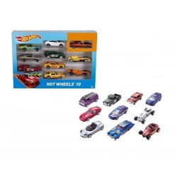 PACK 10 VEHICULOS HOT WHEELS SURT.