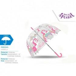 Paraguas burbuja unicornio...