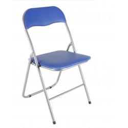 Silla metal plegable azul