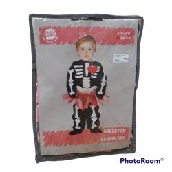 Disfraz esqueleto tu-tu