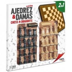 TABLERO AJEDREZ & DAMAS 2 EN 1