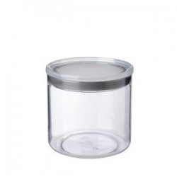 Bote cocina 1 l. transparente gris.