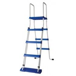 Escalera seguridad con plataforma