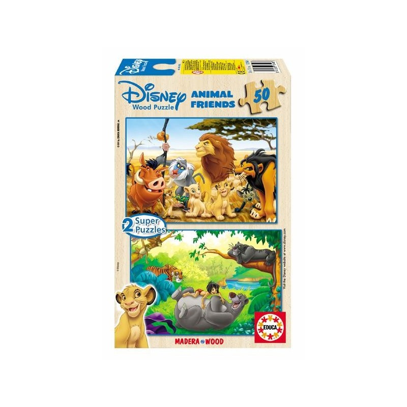 Puzzle 2x50 p. ANIMALS FRIENDS