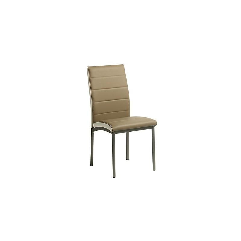 Lote de 4 sillas AMELIA gris.
