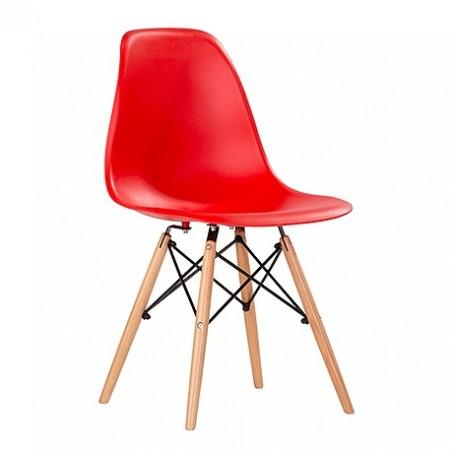 Lote de 4 sillas INÉS rojas.