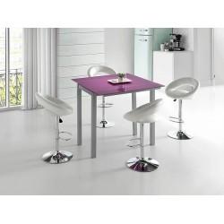 Mesa de cocina LEIRIA blanca.