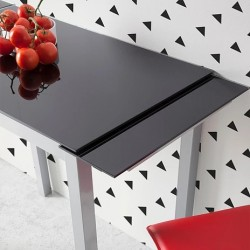 Mesa de cocina LEIRIA morada.