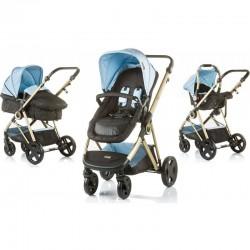 Carrito Bebés 3 piezas SENSI CONVERTIBLE BLUE MIST