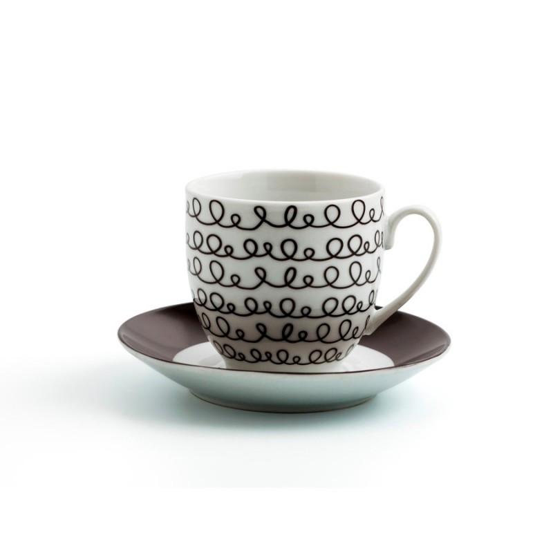 Set 6 tazas 22 cl porcelana GRAPHIC