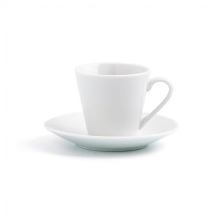 Set 6 tazas café 9 cl.. porcelana blanca.