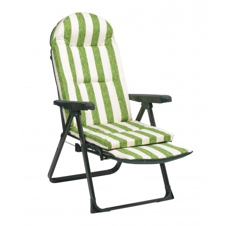 Relax telescópica tubo acero oval 40X20mm rayas verde