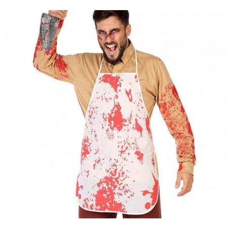 Delantal con manchas de sangre. Talla única.