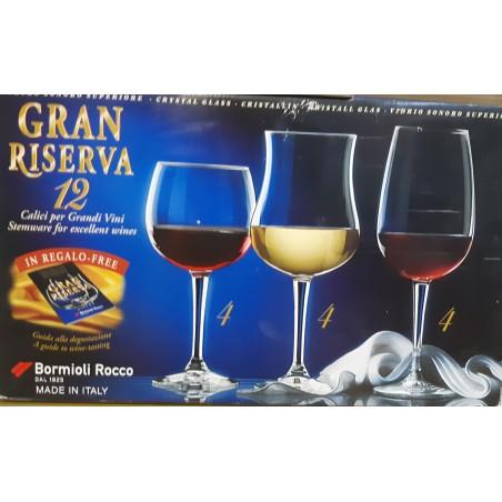 Juego 12 copas Gran Riserva.