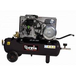 Compresor 3HP 25 l. correas Válvula vacío.