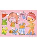Muñecas y accesorios.